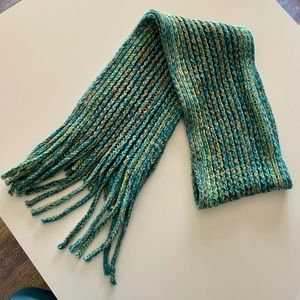 Old Navy Green/Yellow/ Blue Knit Scarf